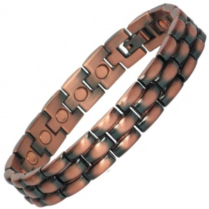 MPS® MOHIE Mens Classic Copper and Zink Magnetic bracelet