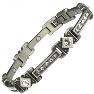 MPS® CHRISTO Celtic Style with Clear Crystals Magnetic Bracelet