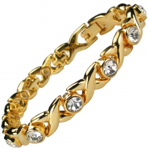 MPS® JAMAIN G White Crystals Magnetic Bracelet