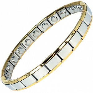 MPS® EXPANDING Narrow Expanding Magnetic Bracelet with golden rims for Women