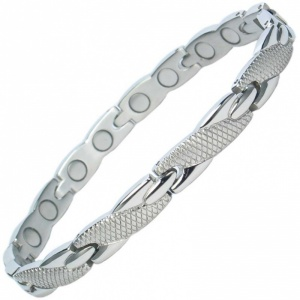 MPS® ADANA Ladies Stainless Steel Magnetic Therapy Bracelet