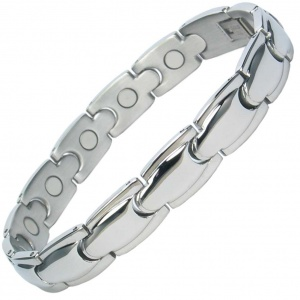 MPS® ALHAMBRA Stainless Steel Magnetic Therapy Bracelet