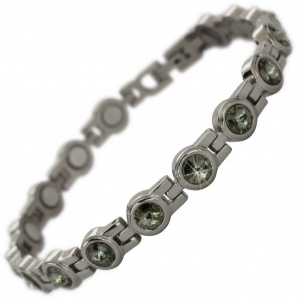 MPS® NORTHIA Titanium Magnetic Bracelet for Women with SWAROVSKI® Green Crystals