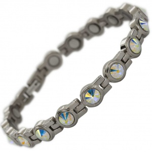 MPS® NORDIA Titanium Magnetic Bracelet for Women with SWAROVSKI® shimmering Crystals