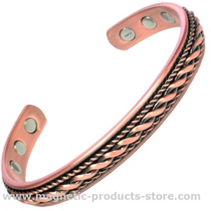 MPS MENS BIO MAGNETIC SOLID COPPER ROPE DESIGN