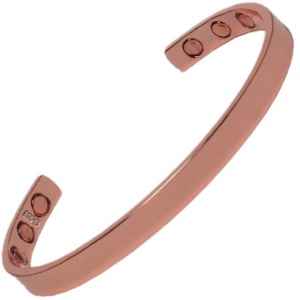 MPS ARDEN Narrow Polished Pure Copper Magnetic Therapy Bangle