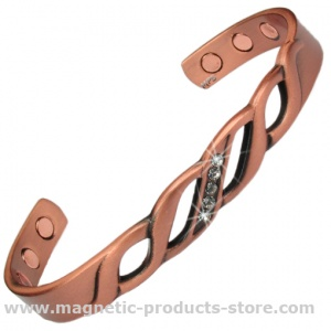 MPS® CLEOPATRA Pure Copper Magnetic Bracelets with Decorating Crystals