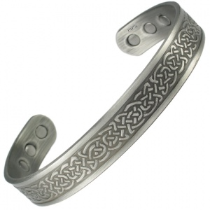 MPS NAYAN Gothic Pewter Magnetic Therapy Bangle