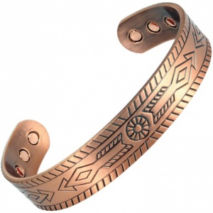 MPS® ADAHAA ARROWS COPPER WIDE SUPER STRONG BIO MAGNETIC BRACELET BANGLE