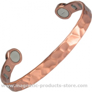 MPS® HERO Mega-Strength Hammered Pure Copper Magnetic Bracelet