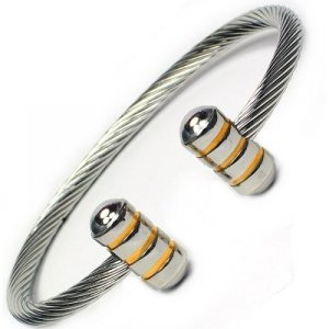 JENOMI B Steel Rope Design Bio Magnetic Bangle