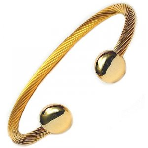 JENOMI C Steel Rope Design Bio Magnetic Bangle