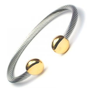 JENOMI E Steel Rope Design Bio Magnetic Bangle