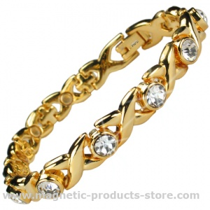 MPS™ JAMAIN G White Crystals Magnetic Bracelet