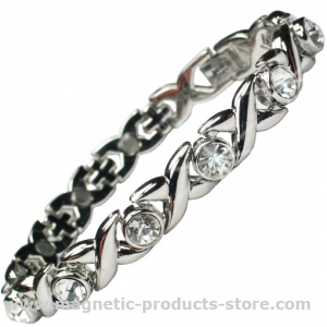 MPS™ JAMAIN S White Crystals Magnetic Bracelet