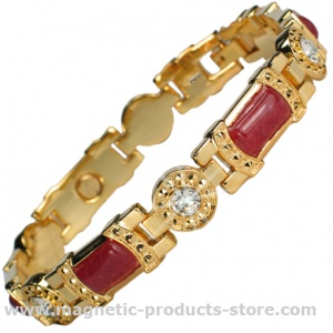 MPS® KARINN Red Ruby Gemstones Magnetic Bracelet