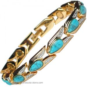 MPS™ VITIM Turquoise Magnetic Bracelet with Gem Stones