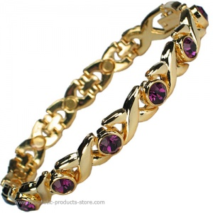 MPS™ JAMAIN Lilac Crystals Magnetic Bracelet