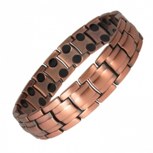 MPS® EUROPE Pure Copper DOUBLE STRENGTH Magnetic Therapy Bracelet