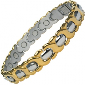 MPS™ AMADA Stainless Steel Magnetic Therapy Bracelet