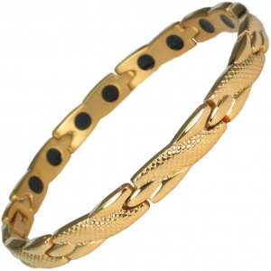 MPS® ADANA Gold PL Ladies Stainless Steel Magnetic Therapy Bracelet