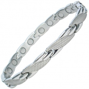 MPS™ ADANA Ladies Stainless Steel Magnetic Therapy Bracelet