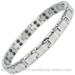MPS® ALVIN SILVER Double Strength Titanium Magnetic Bracelet for Women