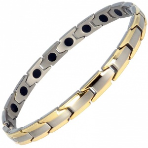 MPS® CastleRock for Women Titanium Magnetic Bracelet GOLD-EDGE