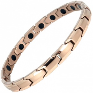 MPS® CastleRock for Women Titanium Magnetic Bracelet ROSE GOLD