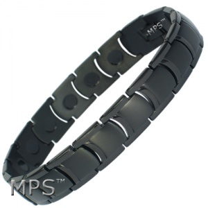 MPS™  MIAMI JET BLACK Ladies Titanium Magnetic Bracelet