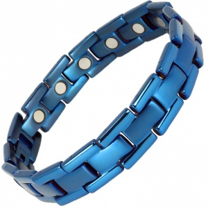MPS® POLARIS Blue Titanium Magnetic Bracelet