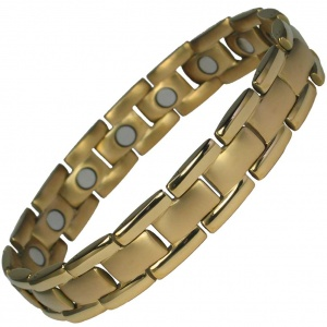 MPS® POLARIS Gold Plated Titanium Magnetic Bracelet