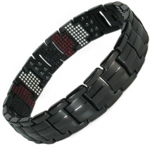 MPS® EUROPE ZOMBIES Repellent Multi Elements Black Magnetic Bracelet