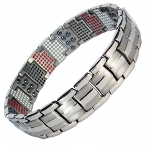 MPS® HOMERIE VAMPIRES repellent Multi Elements Silver Tone Magnetic Bracelet