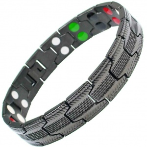 MPS® UBAO 5 in 1 Elements Gunmetal Titanium Magnetic Bracelet