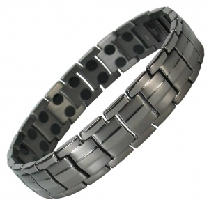MPS® EUROPE GUNMETAL Finish Titanium Magnetic Therapy Bracelet