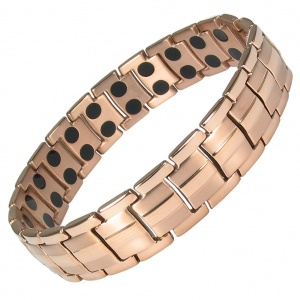MPS® HOMER ROSE-GOLD Finish Titanium Magnetic Therapy Bracelet