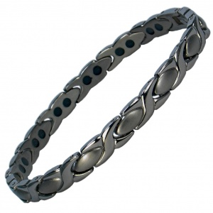 MPS® ALIOTH GUNMETAL Titanium Magnetic Bracelet for women