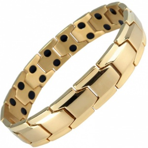 MPS® CastleRock Titanium Magnetic Therapy Bracelet for Men GOLD