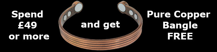 Spend £40 or more and get free copper magnetic bangle