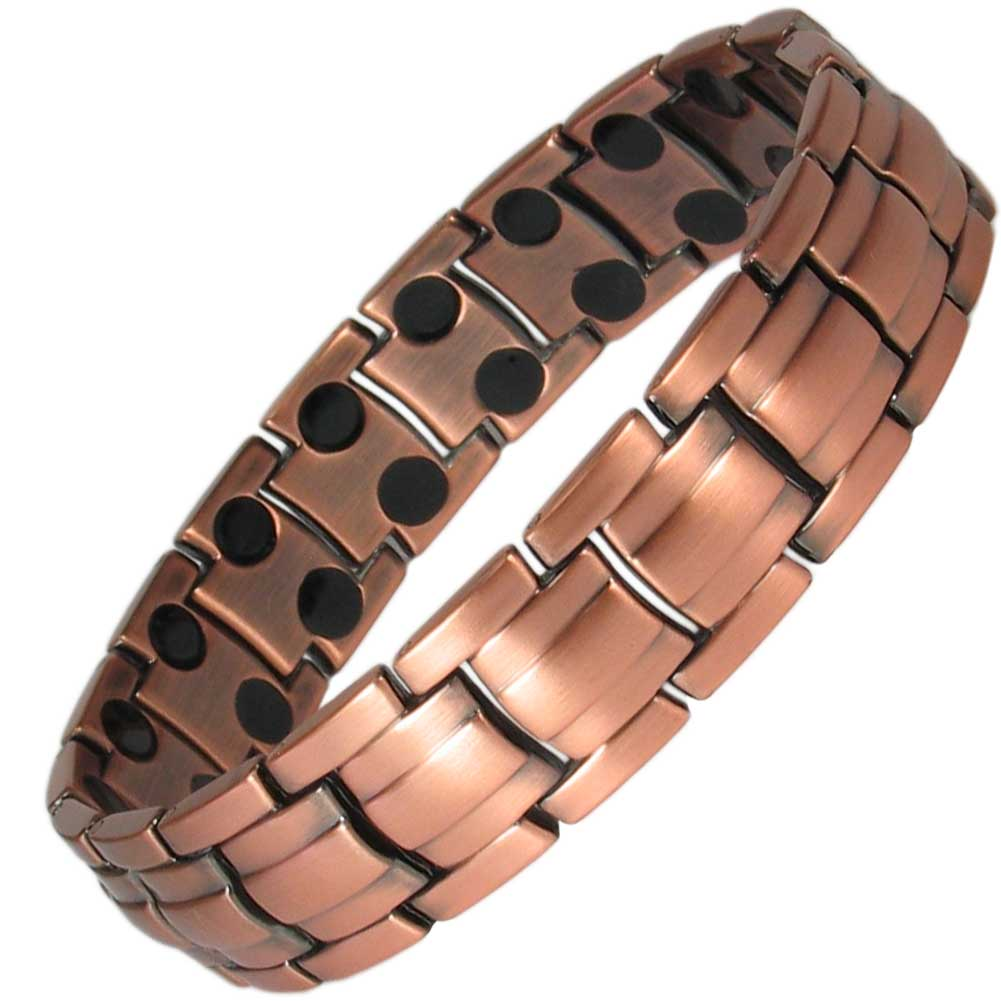 Relatively MPS® APOLLO DOUBLE STRENGTH Mens Copper Rich Magnetic Therapy Bracelet DW29