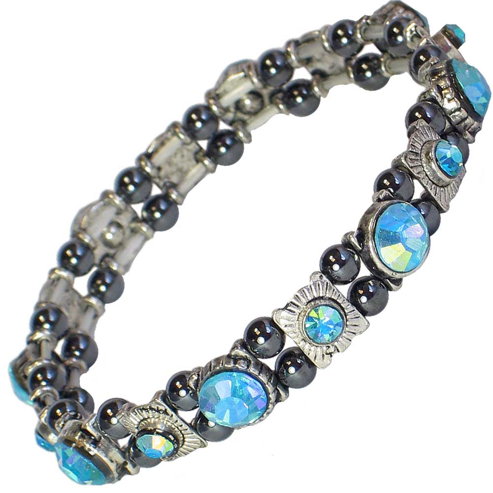 Mps felician beautiful hematite crystal magnetic bracelet for How does magnetic jewelry work