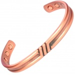 MPS TRIPLE BAR PURE COPPER BIO MAGNETIC BANGLE