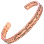 MPS CROSSES pure copper magnetic bangle