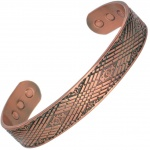 MPS MEDUE Pure Copper Magnetic Bangle with Six magnets