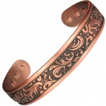 MPS COOPRAA SWIRLING LEAF Pure Copper Magnetic Therapy Bangle