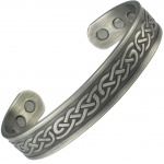MPS ADESH Gothic Pewter Magnetic Therapy Bangle