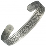 MPS DAMIAN Pewter Magnetic Therapy Bangle