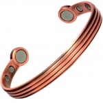 MPS® OORJA Pure Copper Matt Tone Super Strength Magnetic Bangle / Bracelet
