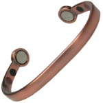 MPS® HERO BIO ENERGY Copper Matt Smooth Magnetic Bracelet